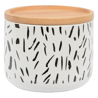 Marlo Tova Canister with Wood Lid - White (Small)