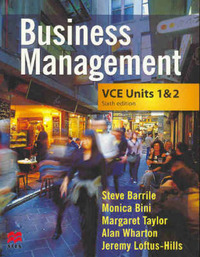 Business Management: VCE Units 1 and 2 by Monica Bini