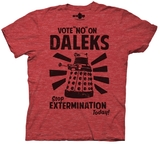 "Doctor Who ""Vote No on Daleks"" T-Shirt - medium"