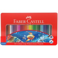 Faber-Castell: Grip Watercolour (Tin of 36)