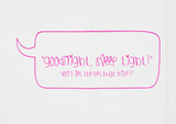 Home-Lee Pillowcase - 'Good Night' - Pink