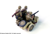Rubicon 1/56 German Motorcycle R75 with Sidecar - DAK image