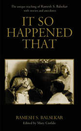 It So Happened That by R.S. Balsekar image
