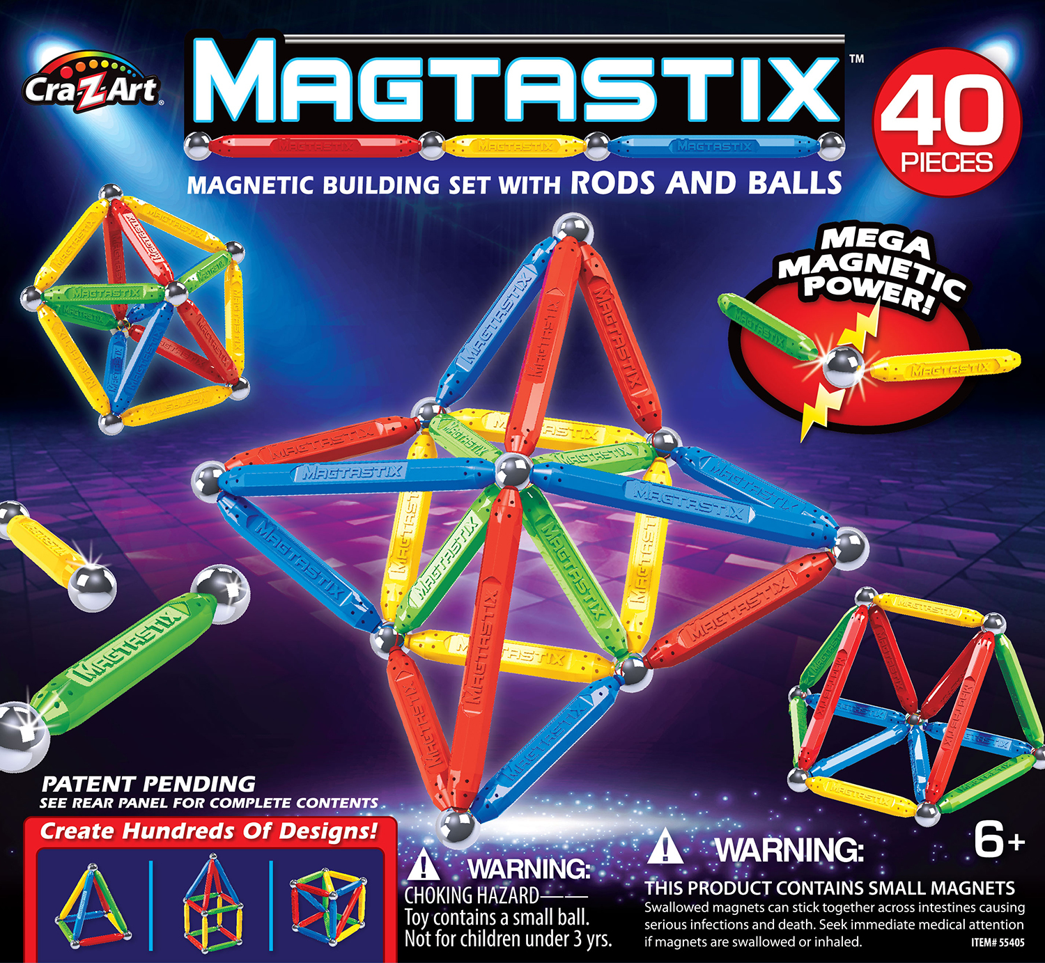 Magtastix: Magnetic Building Set - (40pc) image