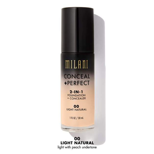 Milani Conceal & Perfect 2-in-1 Liquid Foundation - Light Natural