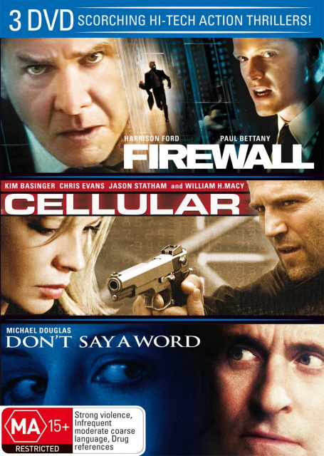 Firewall / Cellular / Don't Say A Word (3 Disc Set) on DVD image