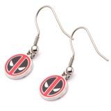 Deadpool Stainless Steel Dangle Earrings