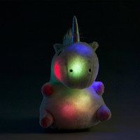 Chubby Light-Up Unicorn Pillow