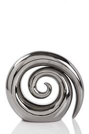 Ceramic Swirl Koru - Silver