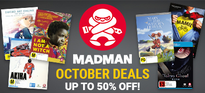 Madman October Deals! Up to 50% off!