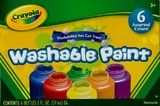 Washable Paint Pack 6 Colours - Crayola