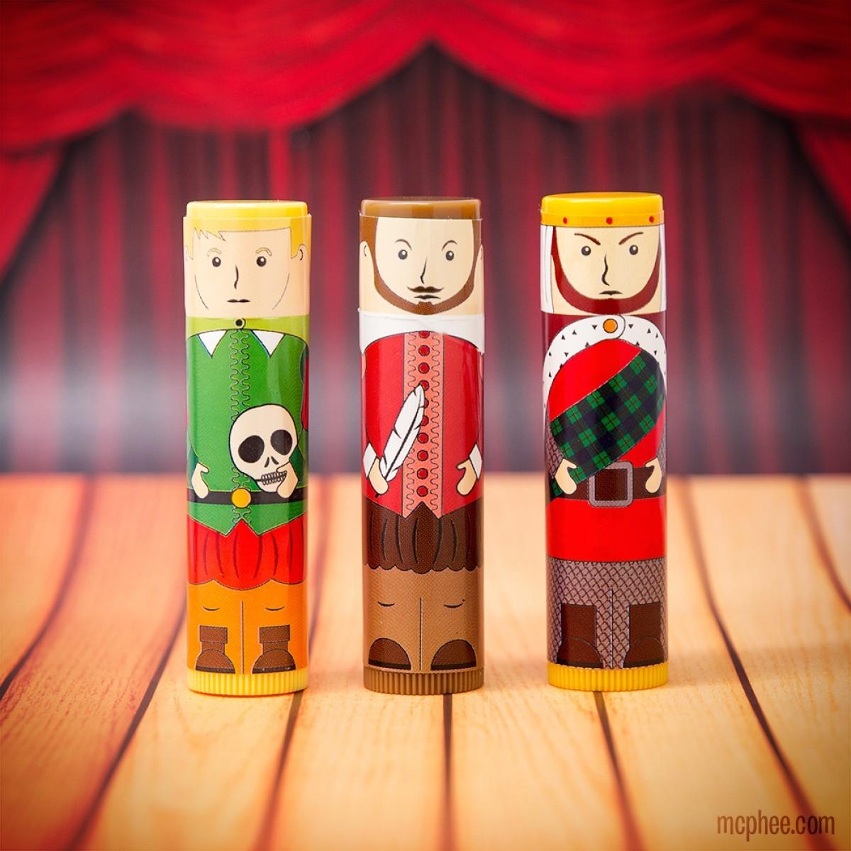 Shakespearean Lip Balm Set image
