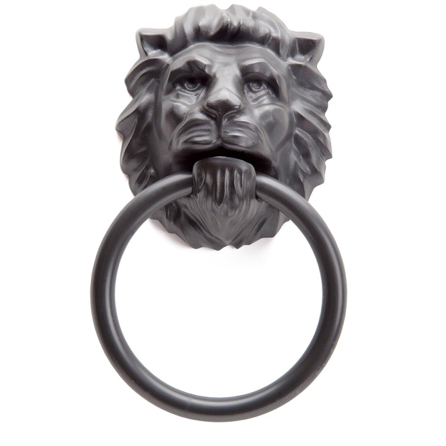 Monkey Business: Lion's Head Magnetic Towel Holder (Black)