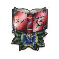'Readers Gotta Read' Book Brooch image