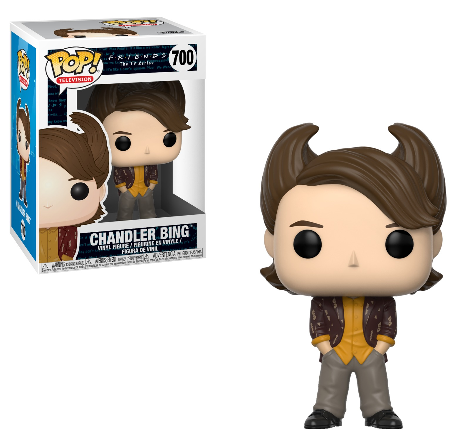 Friends - Chandler Bing (80's Hair ) Pop! Vinyl Figure image