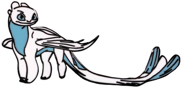 How to Train your Dragon - Lightfury Enamel Pin