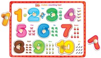 Fun Factory: Numbers 1-10 Puzzle With Knobs
