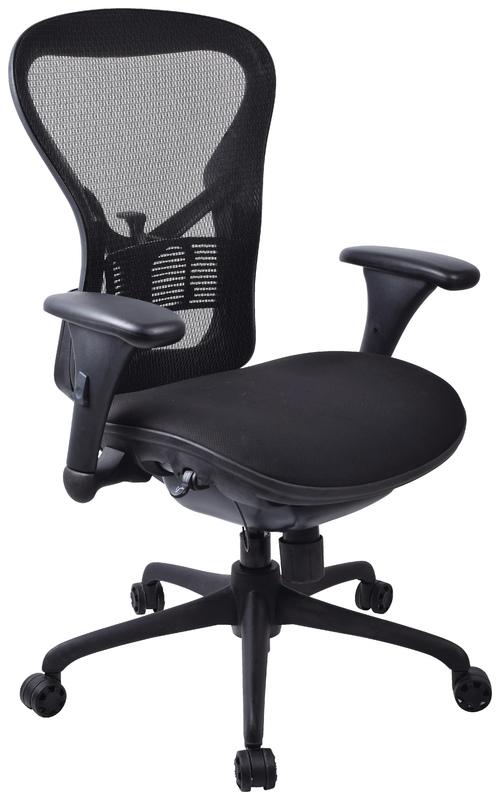 Workpro Operator Slide Mesh Back Chair (Black)