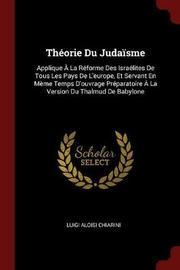 Theorie Du Judaisme by Luigi Aloisi Chiarini image