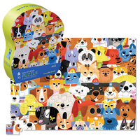 Crocodile Creek: 72-Piece Junior Shaped Puzzle - Lots of Dogs