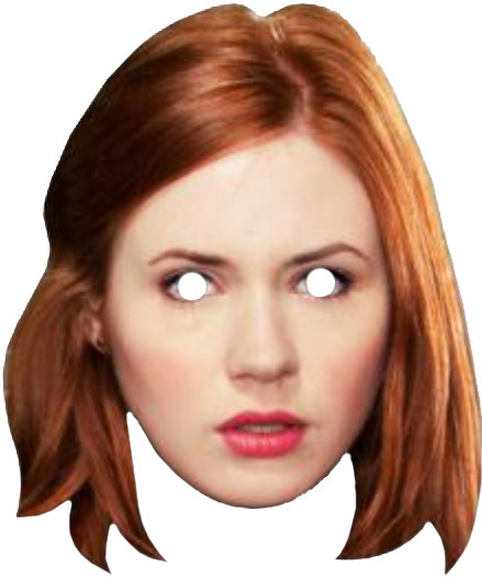 Doctor Who Cardboard Mask - Amy Pond