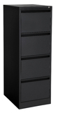 Proceed Lockable Filing Cabinet 4 Drawer - Black