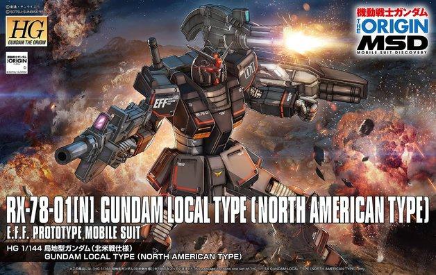 HG 1/144 RX-78-01(N) Gundam (Local Type NA) - Model Kit