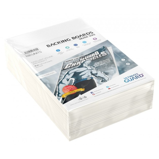 Ultimate Guard: Comic Backing Boards - Silver (100-Pack)