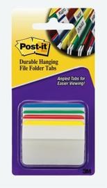 Post-it 686A-1 Durable Hanging File Tabs - Assorted Colours (Pkt 24)