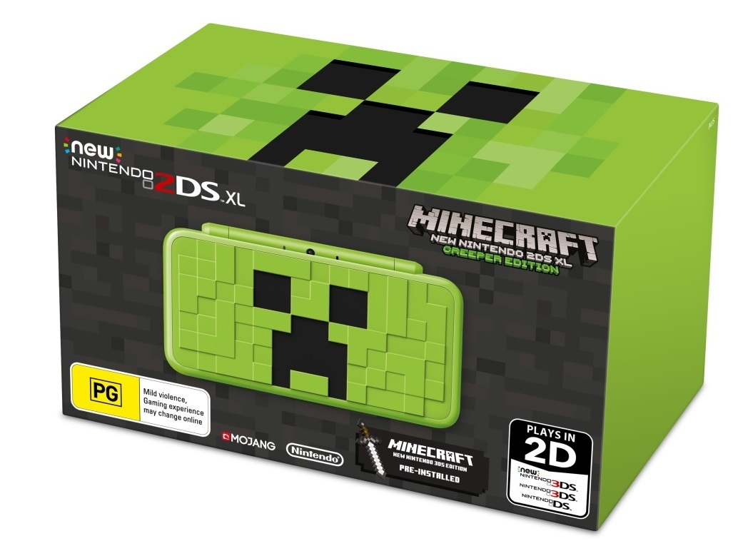 New Nintendo 2DS XL Minecraft Creeper Edition for 3DS image