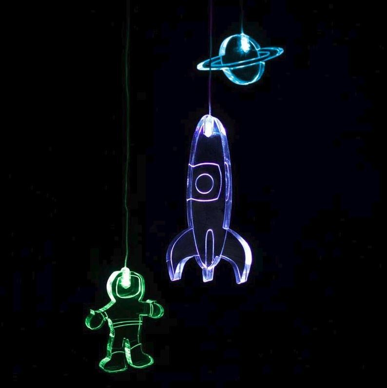 Mobile Night Light with Time - Spaceman image
