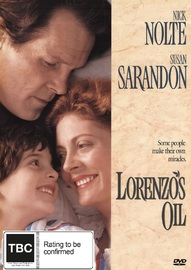 Lorenzo's Oil on DVD