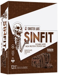 Sinfit Protein Crunch Bars - Chocolate (12 x 83g)