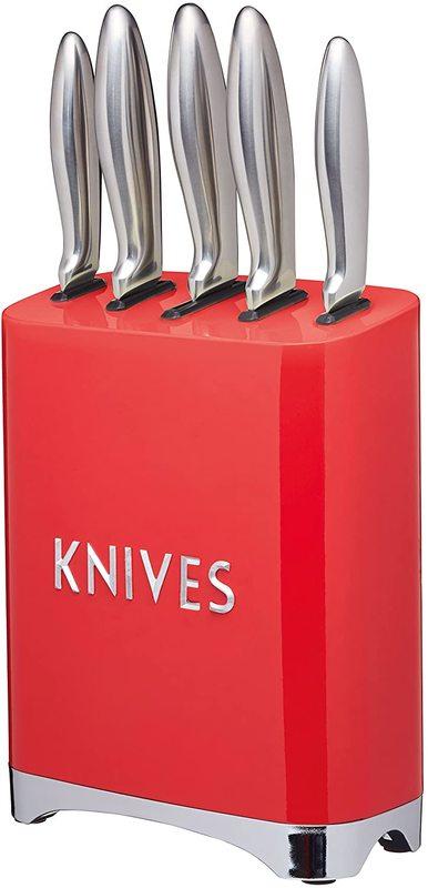 KitchenCraft: Lovello 5pc Knife Block Set - Red