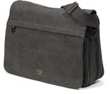 Classic Flap Front Messenger Bag - Black