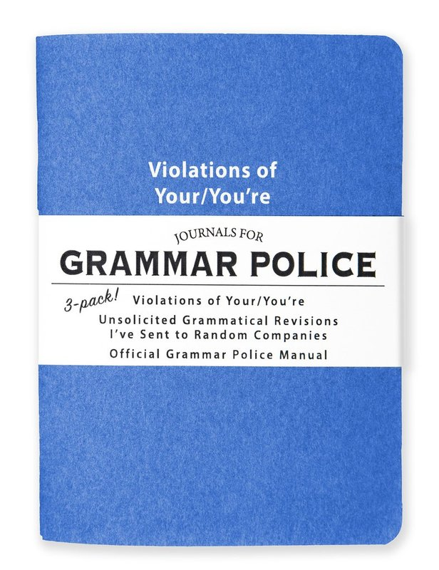 Whiskey River Co: 3 Piece Journal Set - Grammar Police