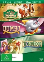 Dumbo (1941) / Robin Hood (1973) / The Fox And The Hound (1981) on DVD