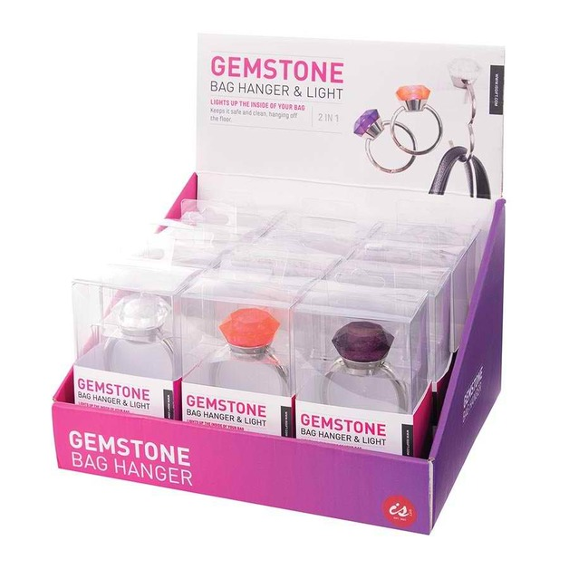 Gemstone Handbag Hanger & Light