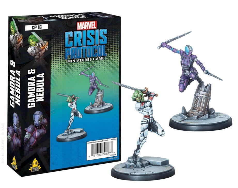 Marvel Crisis Protocol Miniatures Game Gamora and Nebula Expansion image