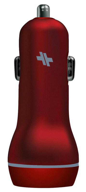Swiss: Dual Port 3.4A Car Charger (Red)