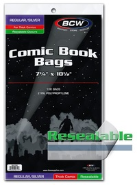 BCW: Resealable Comic Book Bags - Thick (Silver/Regular)