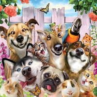 Holdson: Selfies 500pce Jigsaw Puzzle - Dog-Gone Cute