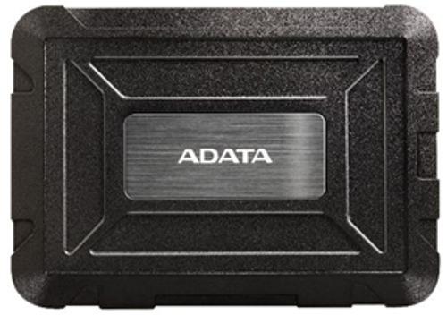 Rugged External HDD Enclosure SATA USB Black
