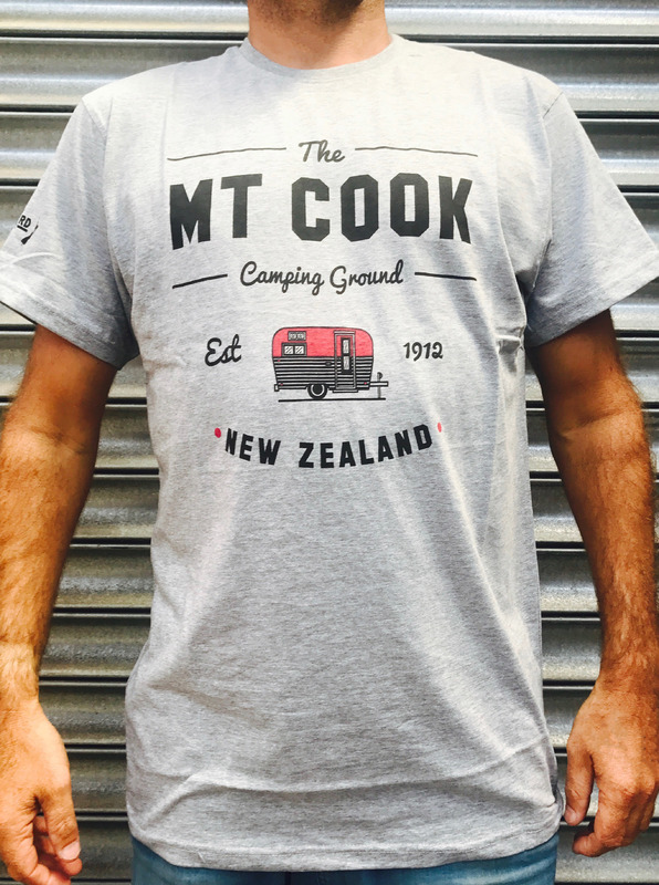 Moana Road: Mt Cook Unisex Tee Grey - Medium