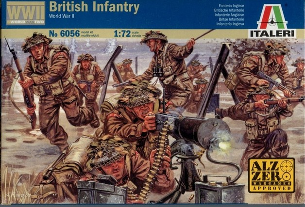 Italeri British Infantry (WWII) 1:72 Model Kit