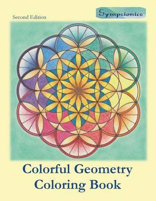 Colorful Geometry Coloring Book by Sympsionics Design