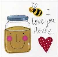 Artist's Cards - Love You Honey Greeting Card
