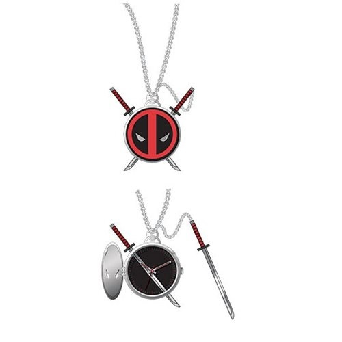 Deadpool Logo Pendant Pocket Watch with Sword image