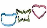 Wiltshire Cookie Cutters - Butterfly / Heart / Bear image