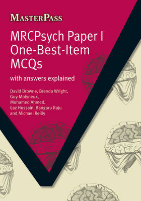 MRCPsych Paper I One-Best-Item MCQs by David Browne image